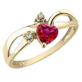 Picture of Gemstone Red Heart Ring - Variant 1