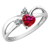 Picture of Gemstone Red Heart Ring - Variant 2