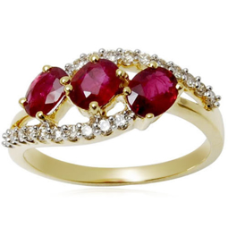 Picture of Golden Gemstone Ring