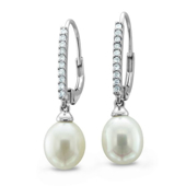 Picture of Diamond Pearl Earring - Variant 1