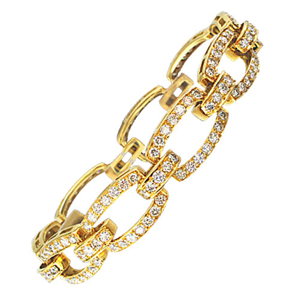 Picture of Golden Diamond Bracelet